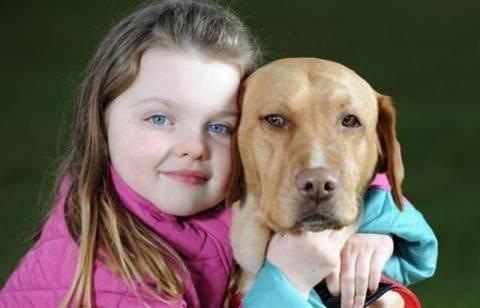 Σκυλίτσα φύλακας- άγγελος για 6χρονη διαβητική!