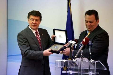 Τον Ότο Ρεχάγκελ τίμησε σήμερα ο Στυλιανίδης