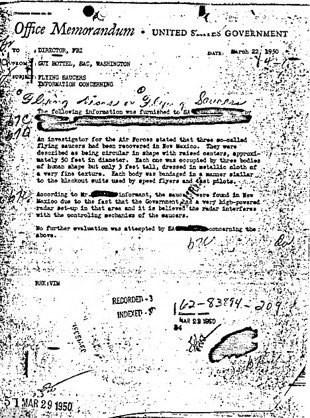 Οι εξηγήσεις του FBI για το διάσημο έγγραφο περί UFO