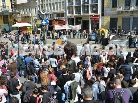 Συλλαλητήριο στο κέντρο για το σχέδιο «Αθηνά» (ΦΩΤΟΡΕΠΟΡΤΑΖ)