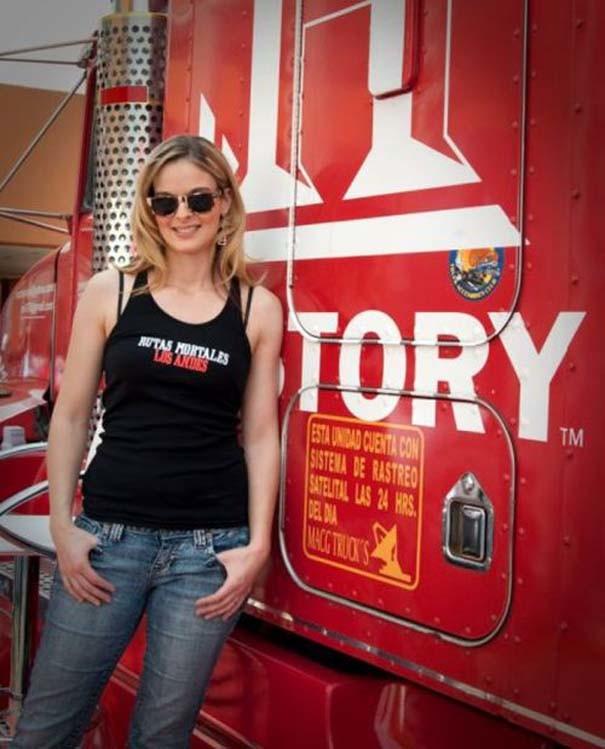 Δείτε την πιο όμορφη οδηγό φορτηγού στον κόσμο! (pics)
