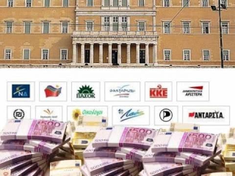 Ποσό - Πρόκληση στα ταμεία των πολιτικών κομμάτων!