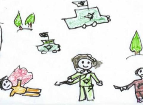 Όταν τα παιδιά της Παλαιστίνης ζωγραφίζουν τον φόβο... (pics)