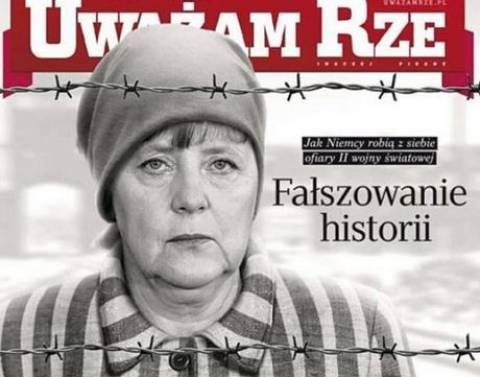 Σάλος με τη φώτο της Μέρκελ ως έγκλειστη σε στρατόπεδο συγκέντρωσης