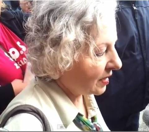 Βίντεο: Στο αστυνομικό μέγαρο Θεσσαλονίκης η Ελένη Γερασιμίδου