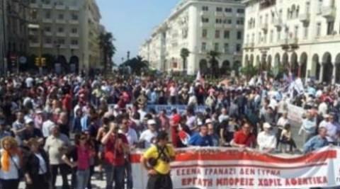 Βίντεο: Σε εξέλιξη οι κινητοποιήσεις στη Θεσσαλονίκη