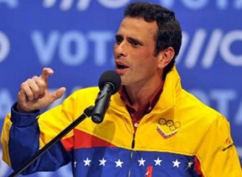 Βενεζουέλα:Προσφυγή Καπρίλες για ακύρωση του εκλογ. αποτελέσματος