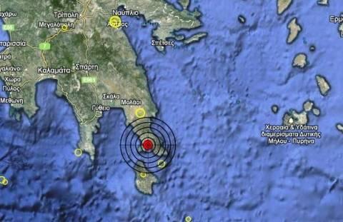 Σεισμός 4 Ρίχτερ στη Νεάπολη Λακωνίας