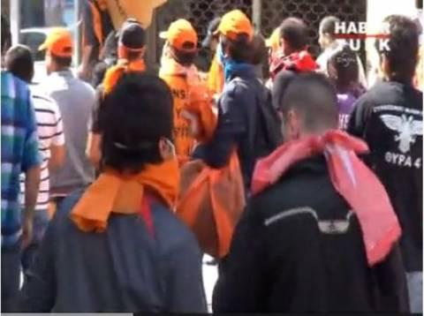 Βίντεο: Οπαδός του ΠΑΟΚ στα επεισόδια της Κωνσταντινούπολης