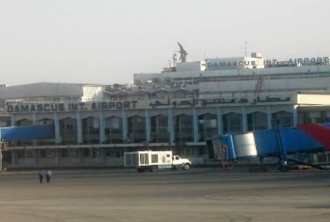 Ρουκέτες στο αεροδρόμιο της Δαμασκού