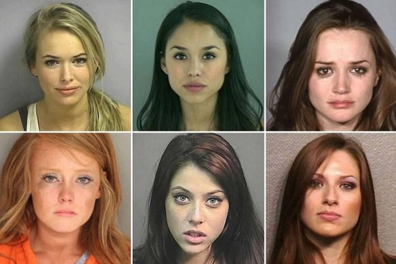 Τα πιο... όμορφα «κακά κορίτσια» ποζάρουν κατά τη σύλληψή τους