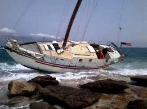 Προσάραξη τουριστικού σκάφους σε ακτή της Εύβοιας