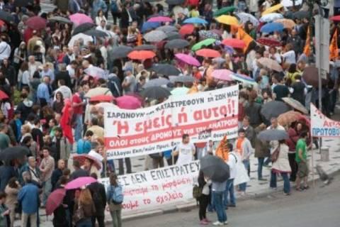 Πορεία διαμαρτυρίας των καθηγητών και στη Θεσσαλονίκη