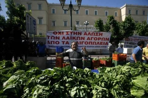 Απεργία και συγκέντρωση διαμαρτυρίας από τους πωλητές λαϊκών αγορών