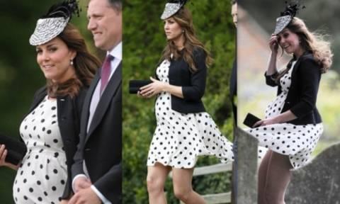 Η κακή στιγμή της εγκύου Κέιτ Μίντλετον όταν σηκώθηκε το φόρεμά της!