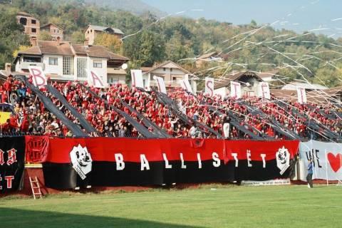 Διεκόπη ο τελικός κυπέλλου στα Σκόπια λόγω εθνικιστικών συνθημάτων