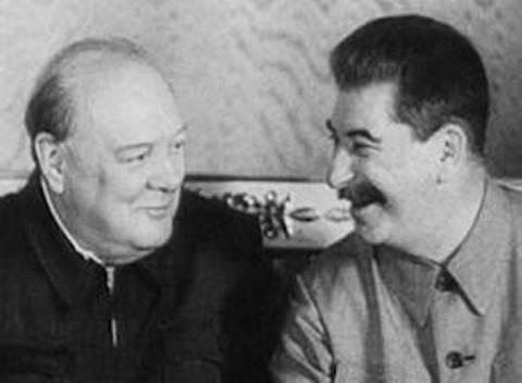 Στάλιν και Τσόρτσιλ «έσπασαν τον πάγο» με ...κρασοκατάνυξη