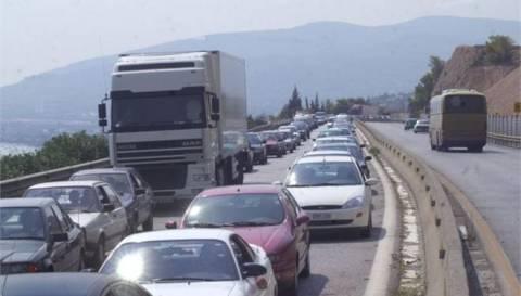Αποκαταστάθηκε η κυκλοφορία στην Εθνική Οδό Αθηνών-Κορίνθου