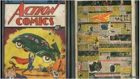 «Στο σφυρί» αντίγραφο του πρώτου κόμικ του Σούπερμαν!