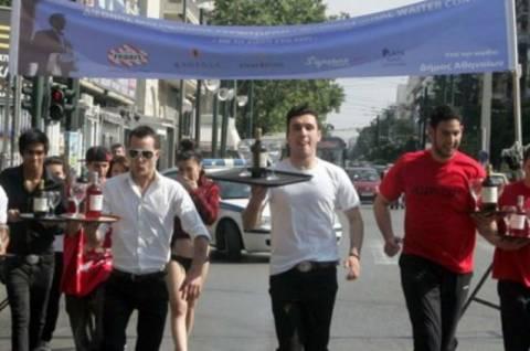 «Μαραθώνιος» σερβιτόρων για την προώθηση της ελληνικής φιλοξενίας