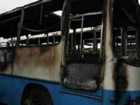 Αστικό λεωφορείο κάηκε ολοσχερώς στη Δράμα