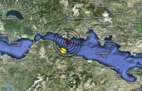 Σεισμός 3,5 Ρίχτερ βόρεια του Αιγίου