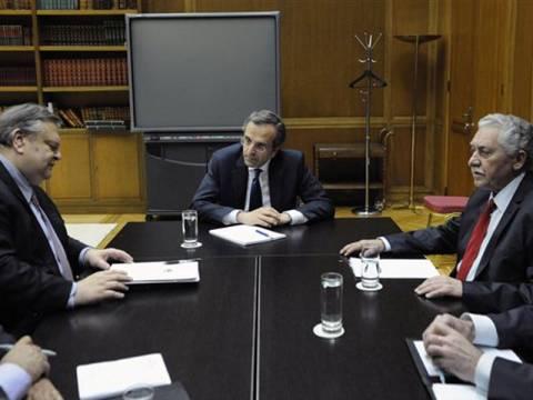 Σαμαράς:Βάζετε θέμα εμπιστοσύνης στην κυβέρνηση;Βενιζέλος-Κουβέλης:ΟΧΙ