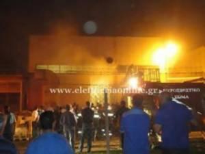 Φωτιά στην καπνοβιομηχανία Καρέλια (pics+vid)