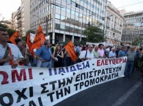 Διαμαρτυρία των εκπαιδευτικών κατά της επιστράτευσης την Παρασκευή
