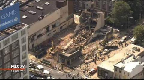 Ένας νεκρός στη Φιλαδέλφεια από την κατάρρευση κτιρίου