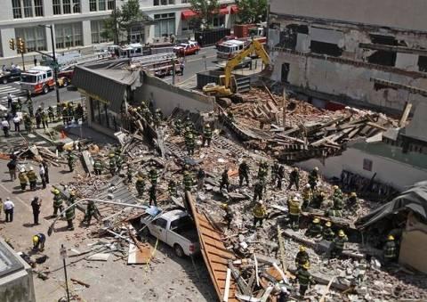ΗΠΑ: Στους έξι οι νεκροί από τη κατάρρευση κτιρίου στη Φιλαδέλφεια