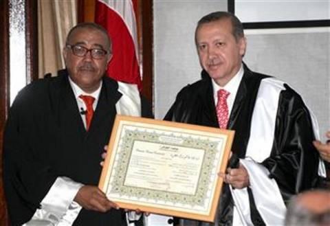 Ο Ερντογάν τιμήθηκε για την «προσφορά του στην ανθρωπότητα»