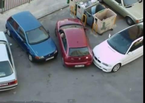 Απίθανο βίντεο: Αυτά παθαίνεις αν... κλείσεις κάποιον με το αυτοκίνητο