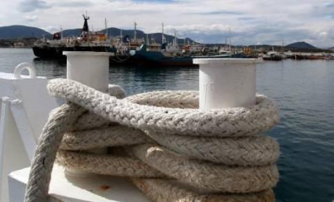 «Μπλόκο» ναυτεργατών στο λιμάνι της Ραφήνας