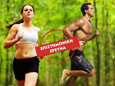 Καλύτερη υγεία με τρέξιμο ή με περπάτημα;