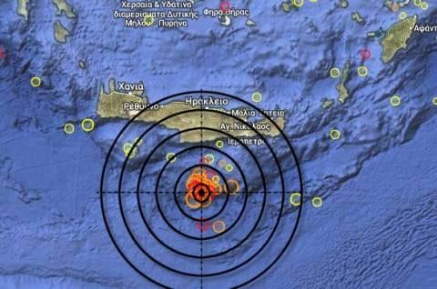 Ισχυρός σεισμός 6,0 Ρίχτερ νότια της Κρήτης
