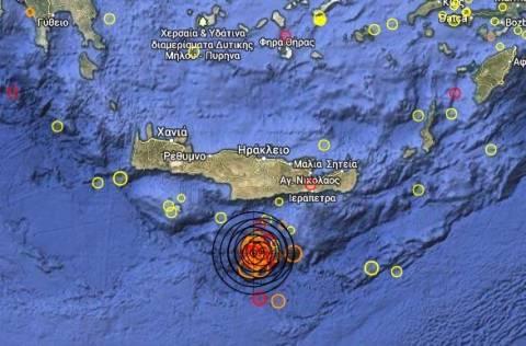 Συνεχίζεται η σεισμική ακολουθία νότια της Κρήτης