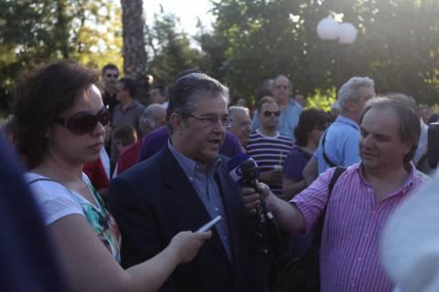Φωτορεπορτάζ από το συλλαλητήριο αλληλεγγύης για την ΕΡΤ από το ΠΑΜΕ