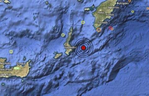 Σεισμός 3,9 Ρίχτερ ανατολικά της Καρπάθου