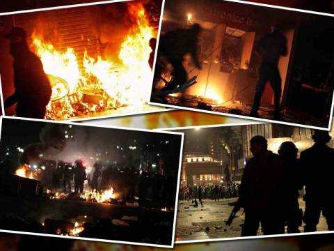 Νύχτα έντασης με επεισόδια και δακρυγόνα στη Βραζιλία
