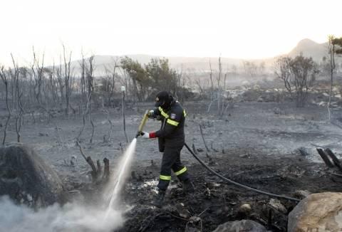 Υπό έλεγχο η πυρκαγιά στο Τυμπάκι Ηρακλείου