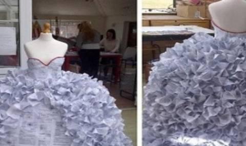Aπίστευτο: Έφτιαξαν ένα νυφικό από... (pics)