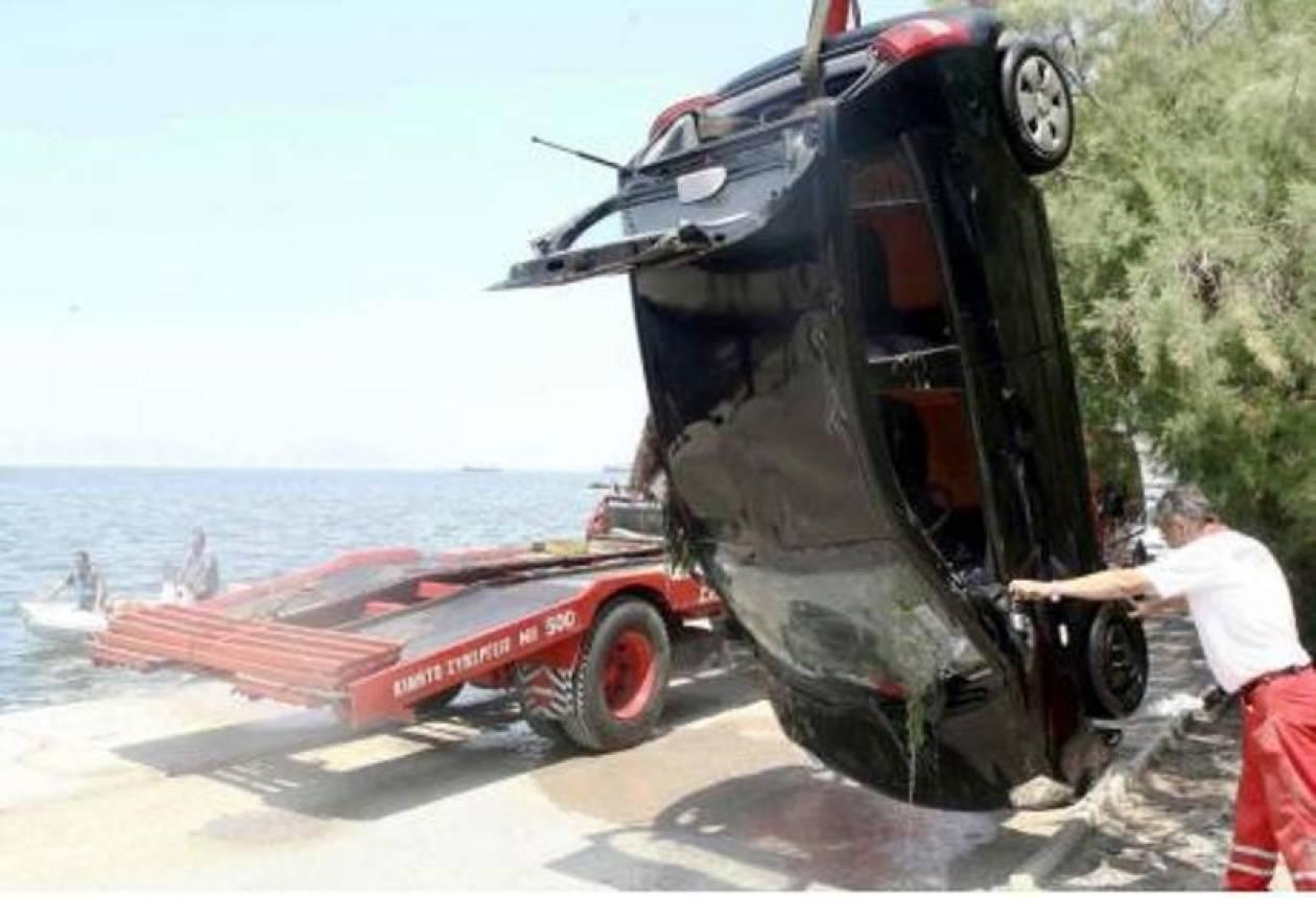 Αυτοκίνητο έπεσε στη λιμνοθάλασσα του Μεσολογγίου
