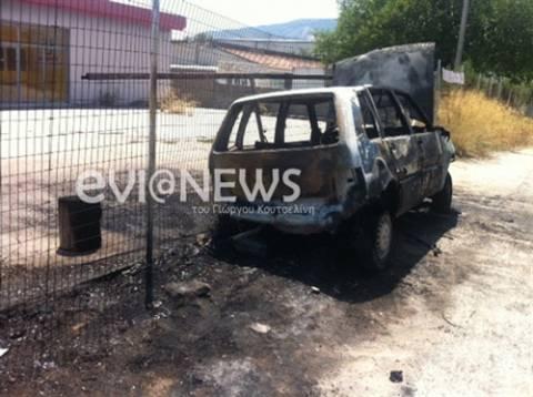 Εύβοια: Ο οδηγός βγήκε χωρίς γρατζουνιά μέσα από τις φλόγες (pics)