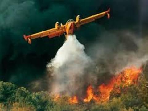 Πυρκαγιά κοντά σε σπίτια στην Ηρακλείτσα Καβάλας