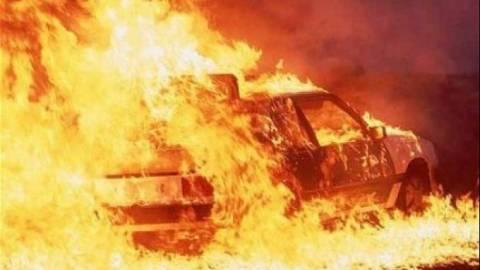 Στις φλόγες κλούβα στον Προφήτη Ηλία
