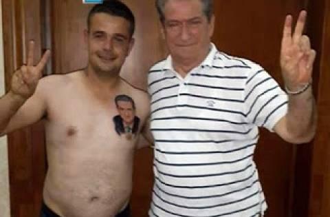Απίστευτο! Αλβανός  με τατουάζ τον Μπερίσα στην καρδιά!
