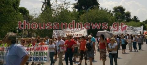 Χιλιάδες διαδηλωτές στους δρόμους της Θεσσαλονίκης