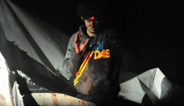 Ο Τσαρνάεφ με το σημάδι του ελεύθερου σκοπευτή στο μέτωπο
