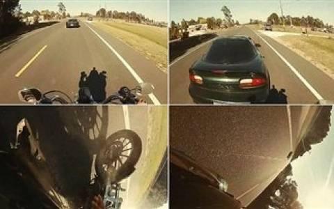 e4e18186e0e Βίντεο: Κατέγραψε το τρομακτικό ατύχημα που είχε με τη μηχανή